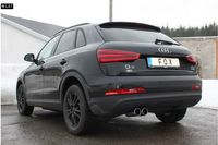 FOX Komplettanlage ab Kat Audi Q3 ab 07 2.0TFSI - 2x90mm Typ 12 Bild 2
