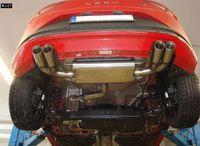 FOX Duplex Sportauspuff Seat Leon 5F ab 12 1.2l 1.4l - 2x80mm Typ 25 rechts links Bild 4