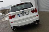 FOX Duplex Komplettanlage ab Kat BMW X3 F25 3.0l ab 10 - 2x90mm Typ 17 rechts links Bild 3