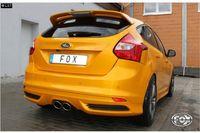 FOX Komplettanlage ab Kat Ford Focus 3 ST Fließheck 2.0l ab 12 - 2x115x85mm Typ 32 mittig