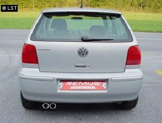 REMUS Komplettanlage ab Kat VW Polo 6N inkl. Facelift 1.0l bis 1.6l - 2x82x67mm