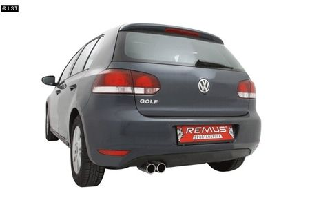 REMUS Sportauspuff VW Golf 6 1K u. Plus 1KP 1.4l TSI - 2x76mm