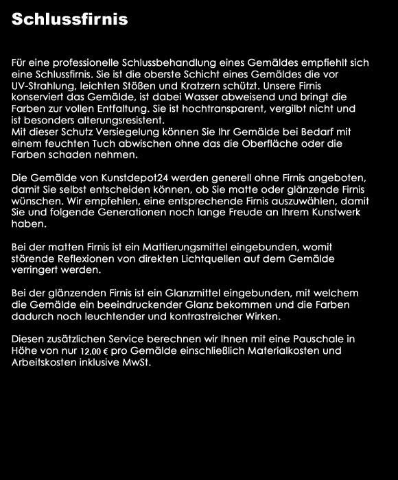 KUNSTDEPOT24 SCHLUSS FIRNIS MATT GROSS OBERFLÄCHENSCHUTZ