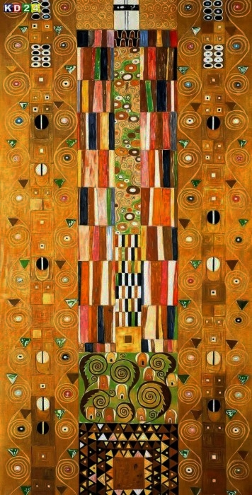 Gustav Klimt - Pattern for the Stoclet Frieze f88385 G 60x120cm meisterhaftes Ölgemälde Jugendstil Museumsqualität