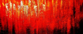 Abstract - Legacy of Fire III t90859 75x180cm abstraktes Ölbild handgemalt