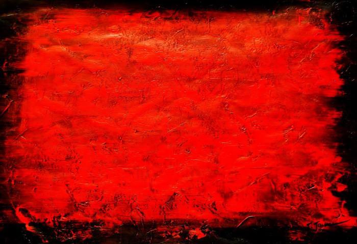 Abstrakt - Black Ruby d91684 60x90cm abstraktes Ölgemälde handgemalt