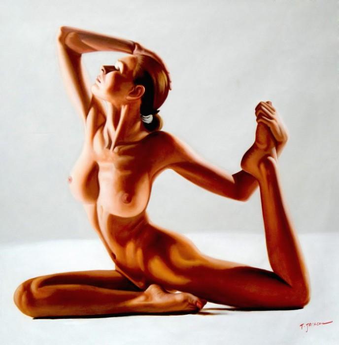 Modern Art - Tanz der Gefühle m92433 120x120cm stilvolles Ölgemälde