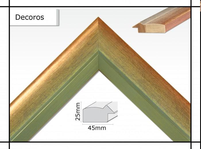 Holzrahmen Decoros Rot / Silberdecor - Der Rahmen wird zur Selbstmontage* geliefert.