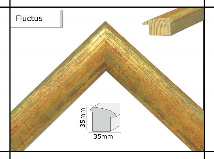 Holzrahmen Fluctus Safrangelb - Der Rahmen wird zur Selbstmontage* geliefert.