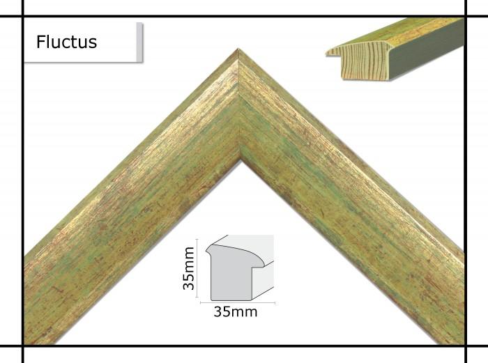 Holzrahmen Fluctus Blassgrün - Der Rahmen wird zur Selbstmontage* geliefert.