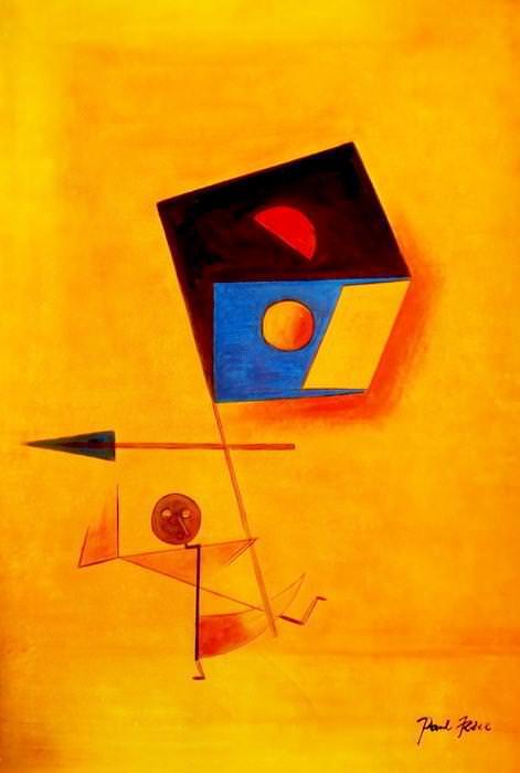 Paul Klee - Conqueror d92634 60x90cm exquisites Ölgemälde