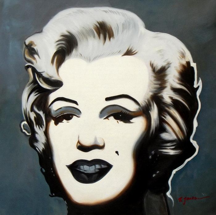 Modern Art - Marilyn Monroe e92677 60x60cm exquisites Ölgemälde