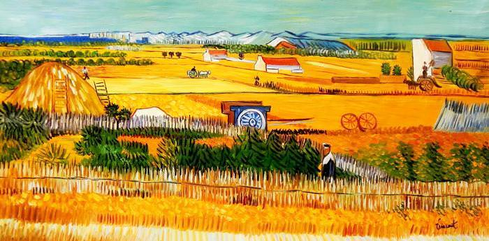 Vincent van Gogh - Erntelandschaft f92701 60x120cm Gemälde handgemalt