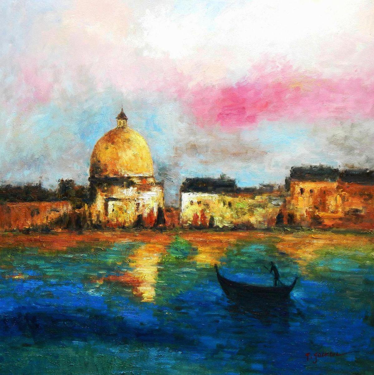Modern Art - Venedig Canale Grande g92941 80x80cm handgemaltes Gemälde