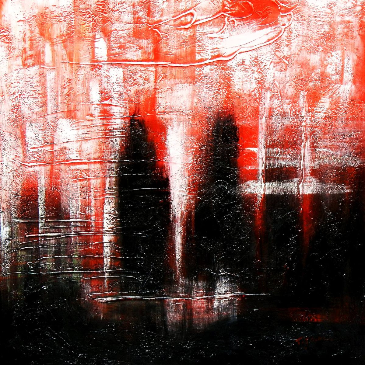 Abstract - Legacy of Fire IV g92950 80x80cm abstraktes Ölbild handgemalt