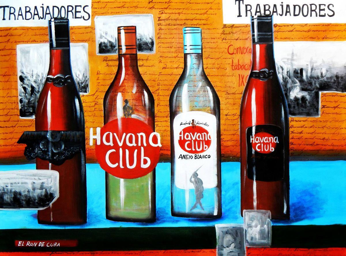 Cuba Havana Club Party k92979 90x120cm Ölgemälde handgemalt