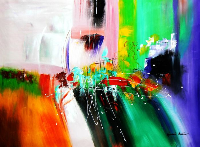 Abstract - The cloud train k92980 90x120cm Ölgemälde handgemalt