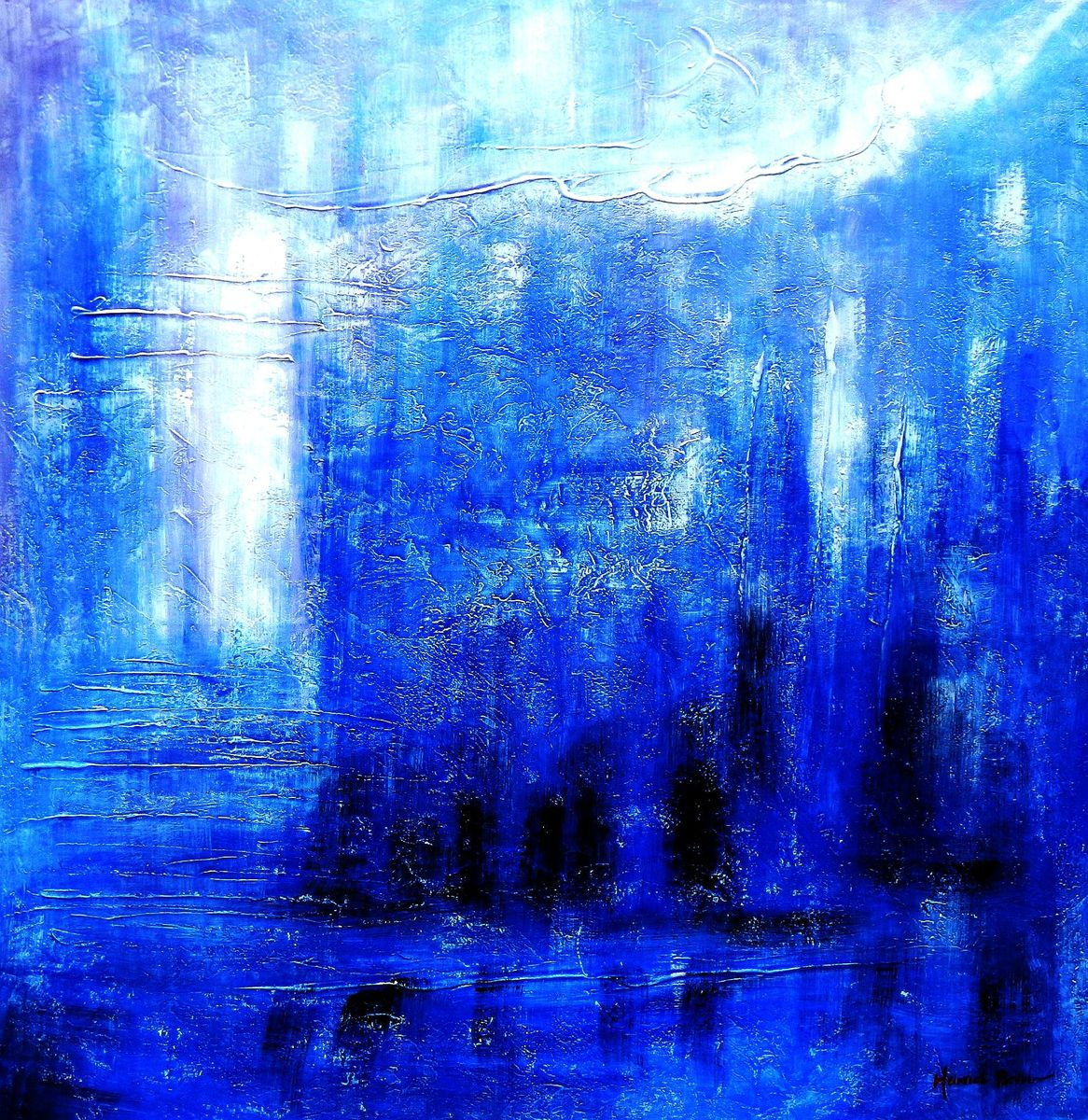 Abstract - Winter Olympics m92992 120x120cm abstraktes Gemälde