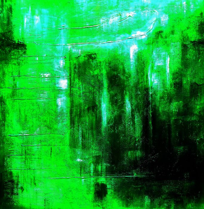 Abstract - Ireland Summer games m93001 120x120cm abstraktes Gemälde