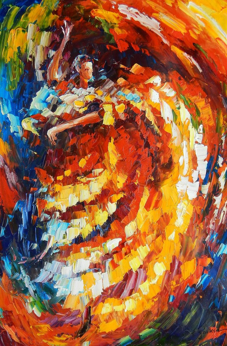 Modern Art - La Flamenco d93061 60x90cm stilvolles Ölgemälde