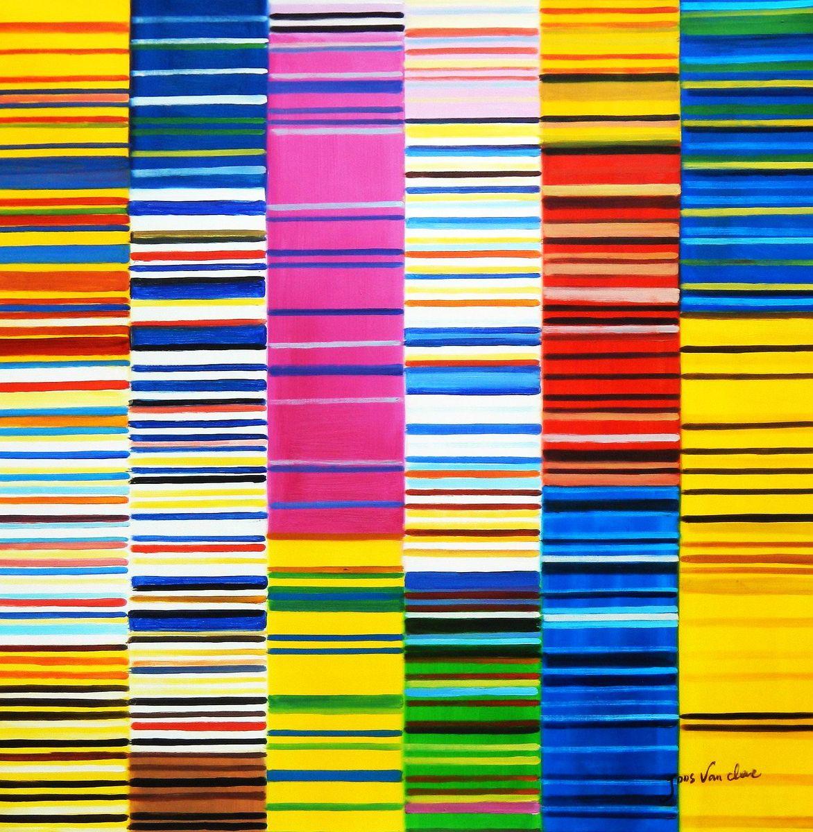 Modern Art - Lorenz stripes homage of Paul Smith g93102 80x80cm Ölgemälde