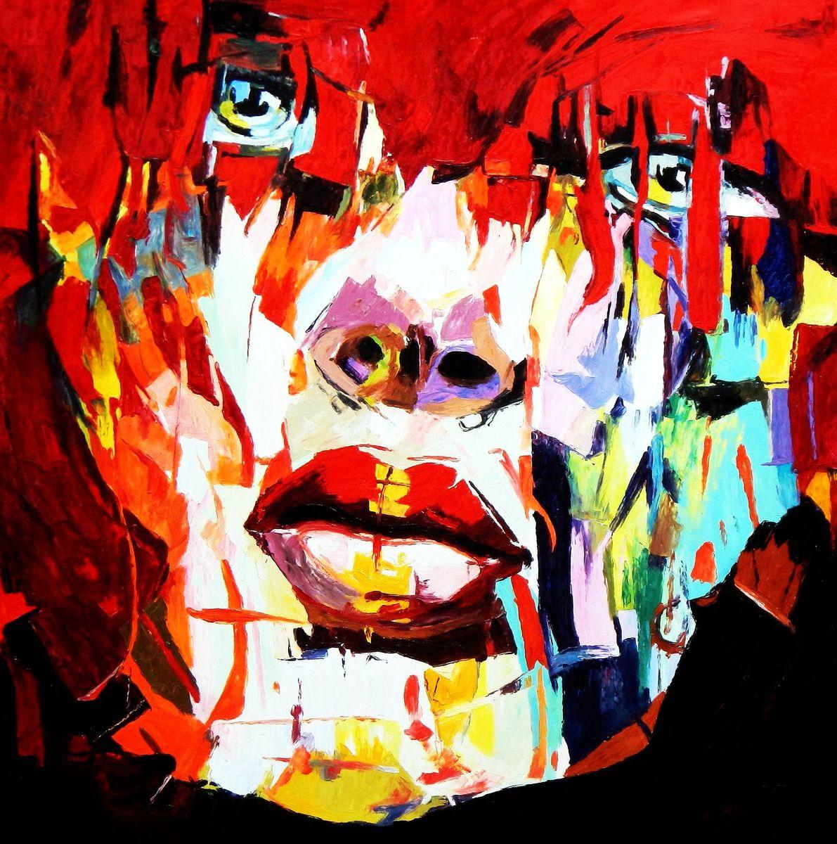 Modern Art - Die Besonnenheit m93152 120x120cm großartiges Ölgemälde