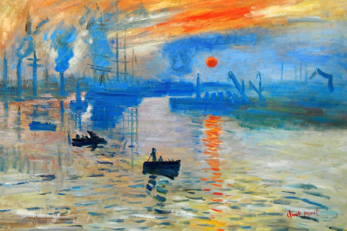 Claude Monet - Sonnenaufgang d93371 60x90cm Ölgemälde handgemalt