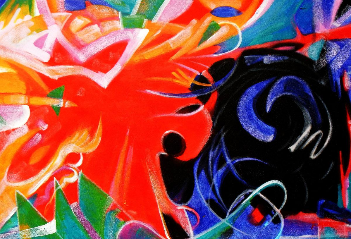 Franz Marc - Fighting Forms d93387 60x90cm Expressionismus Ölgemälde