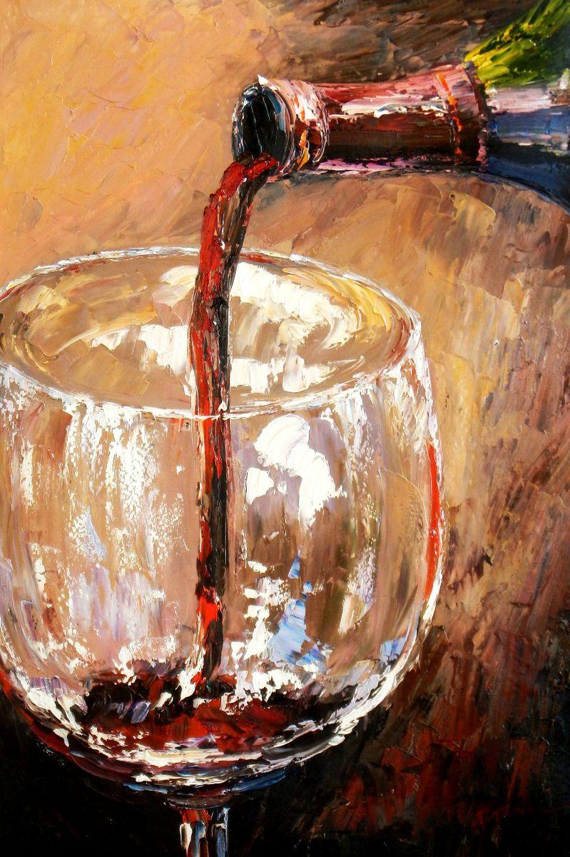 Modern Art - Winery Arts d93716 60x90cm modernes Ölgemälde