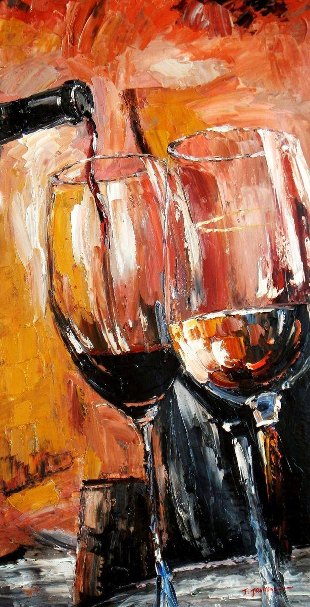 Modern Art - Winery Arts f93730 60x120cm modernes Ölgemälde
