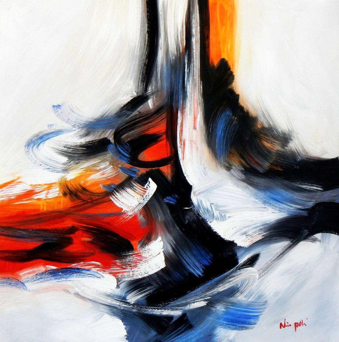 Abstract -  Tower of colors g93998 80x80cm abstraktes Ölbild handgemalt
