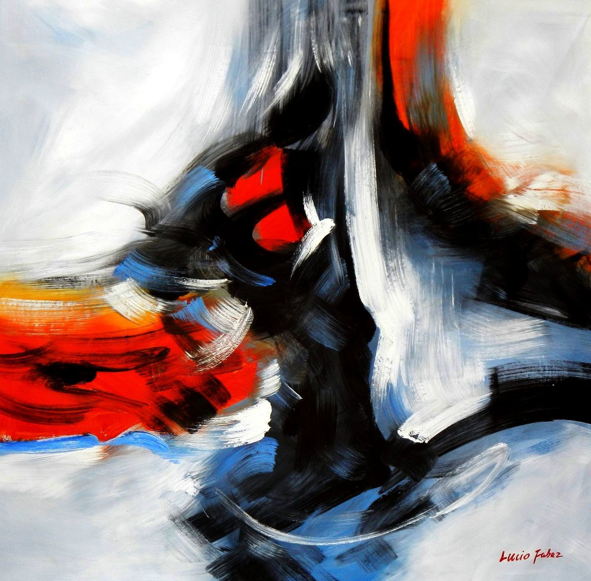 Abstract - New York sailing journey m94073 120x120cm abstraktes Ölgemälde handgemalt