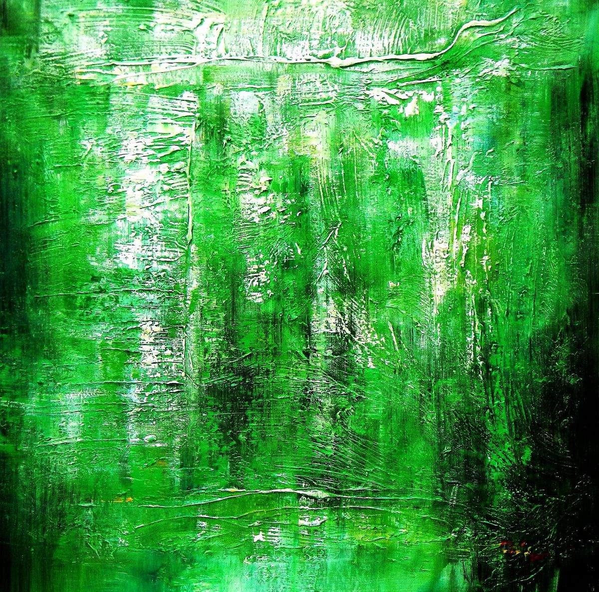 Abstract - Ireland Summer games g94319 80x80cm abstraktes Gemälde