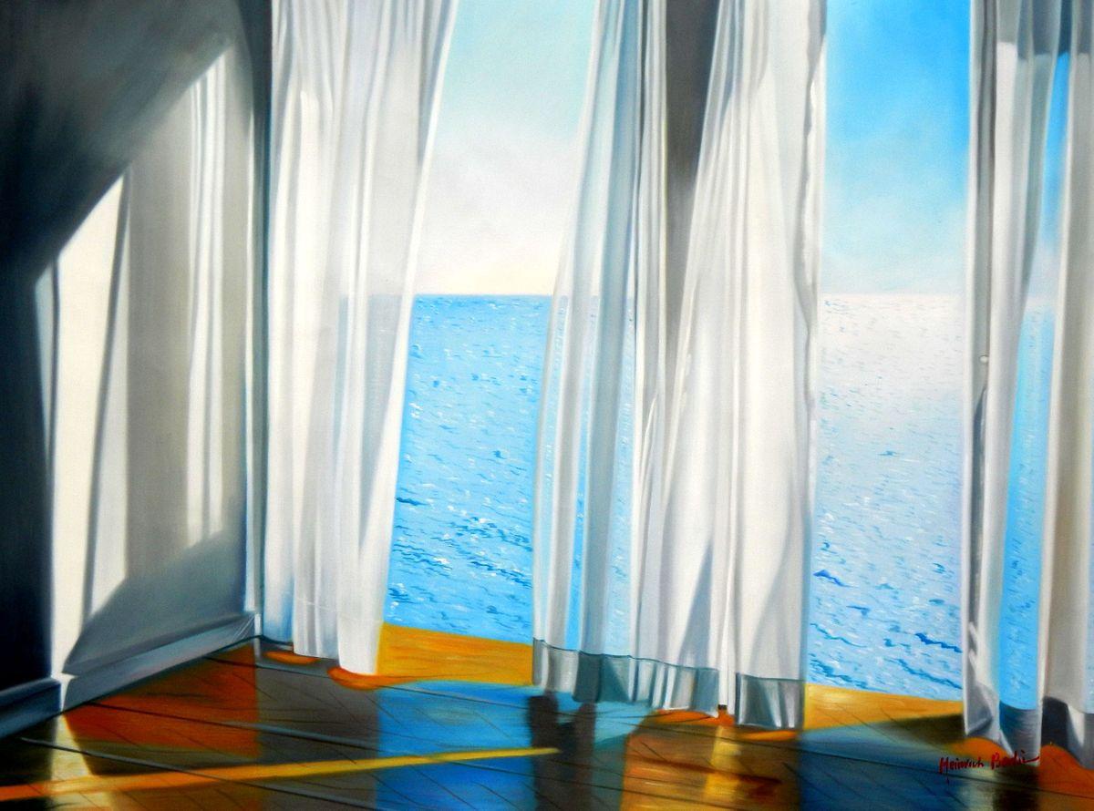 Modern Art - Sommerbrise am Meer k94459 90x120cm brilliantes Ölgemälde handgemalt