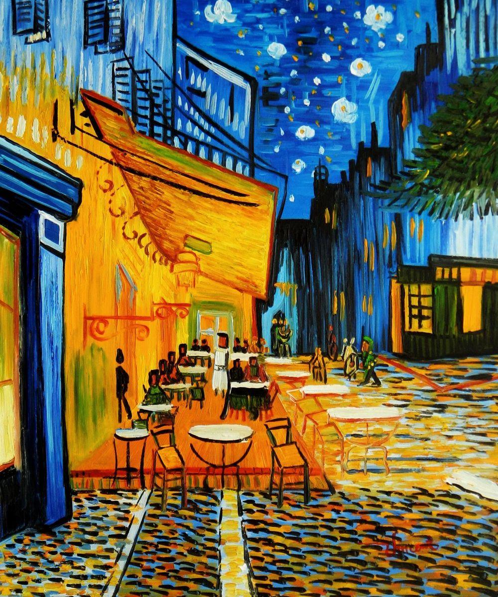 Vincent van Gogh - Nachtcafe c94548 50x60cm exzellentes Ölgemälde handgemalt