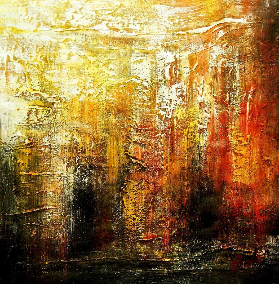 Abstrakt - Berlin am Lustgarten e94613 G 60x60cm Ölbild handgemalt