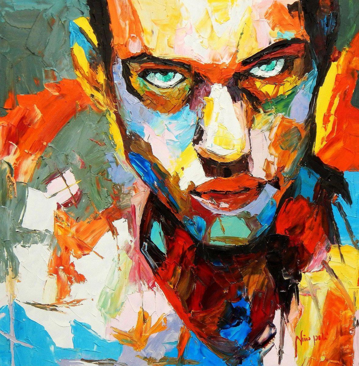 Modern Art - Die Entschlossenheit e94615 60x60cm exquisites Ölgemälde