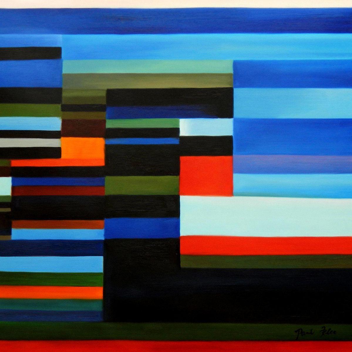 Paul Klee - Feuer am Abend g94669 80x80cm Ölgemälde handgemalt