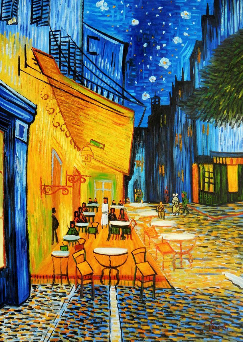 Vincent van Gogh - Nachtcafe i94704 80x110cm exzellentes Ölgemälde handgemalt