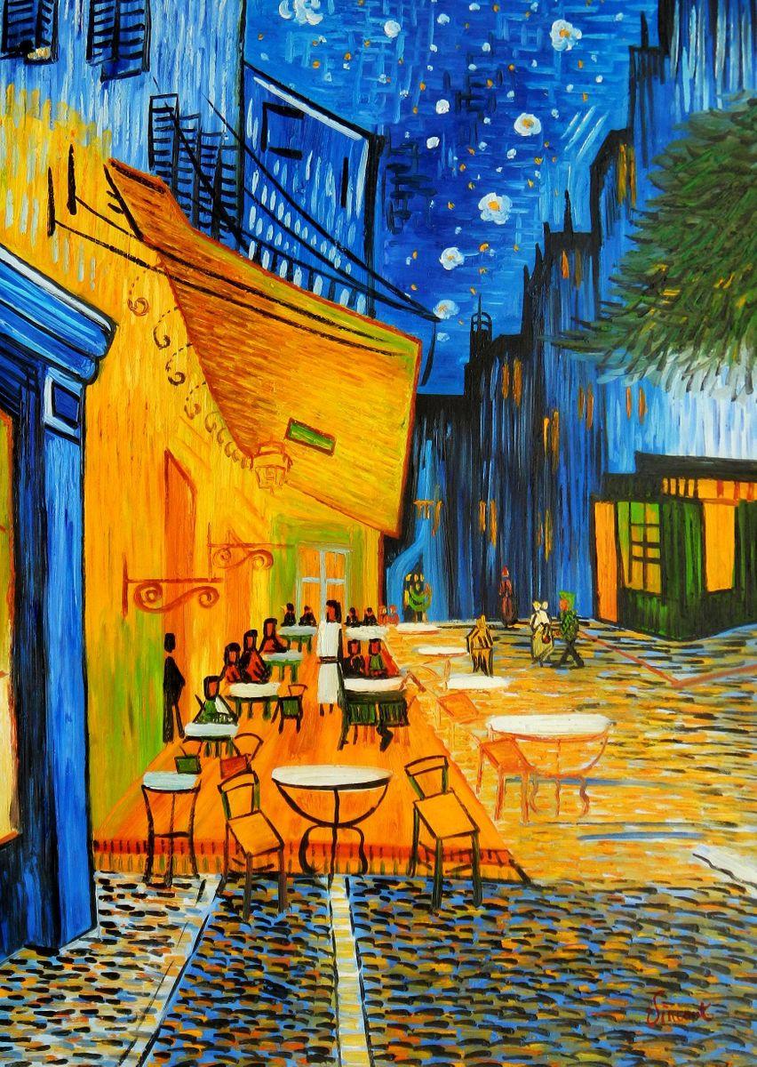 Vincent van Gogh - Nachtcafe i94705 80x110cm exzellentes Ölgemälde handgemalt