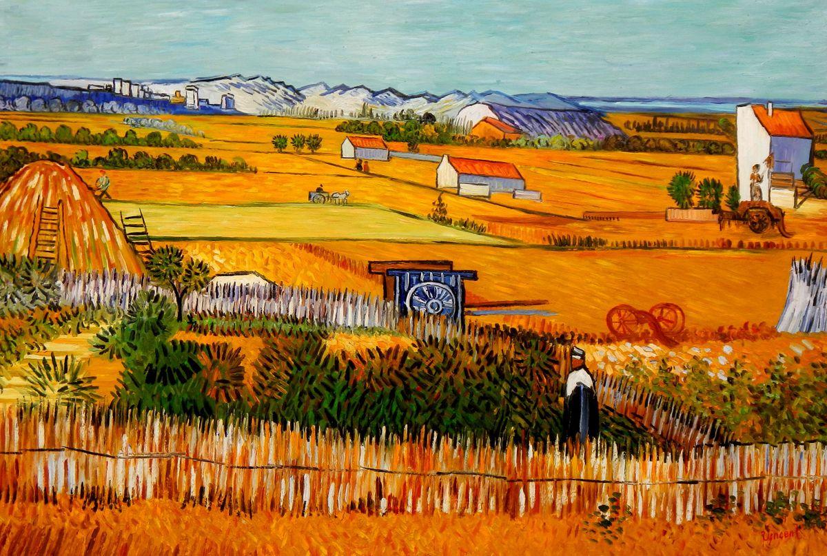 Vincent van Gogh - Erntelandschaft p94741 120x180cm Gemälde handgemalt