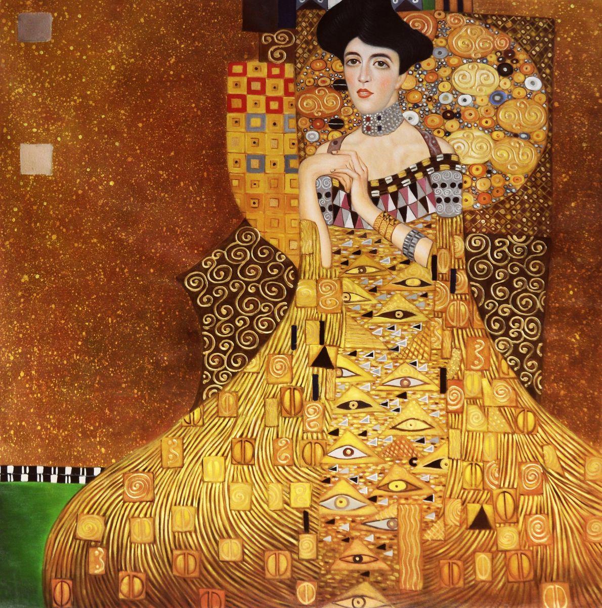 Gustav Klimt - Adele Bloch Bauer I m95373 120x120cm exzellentes Ölbild handgemalt