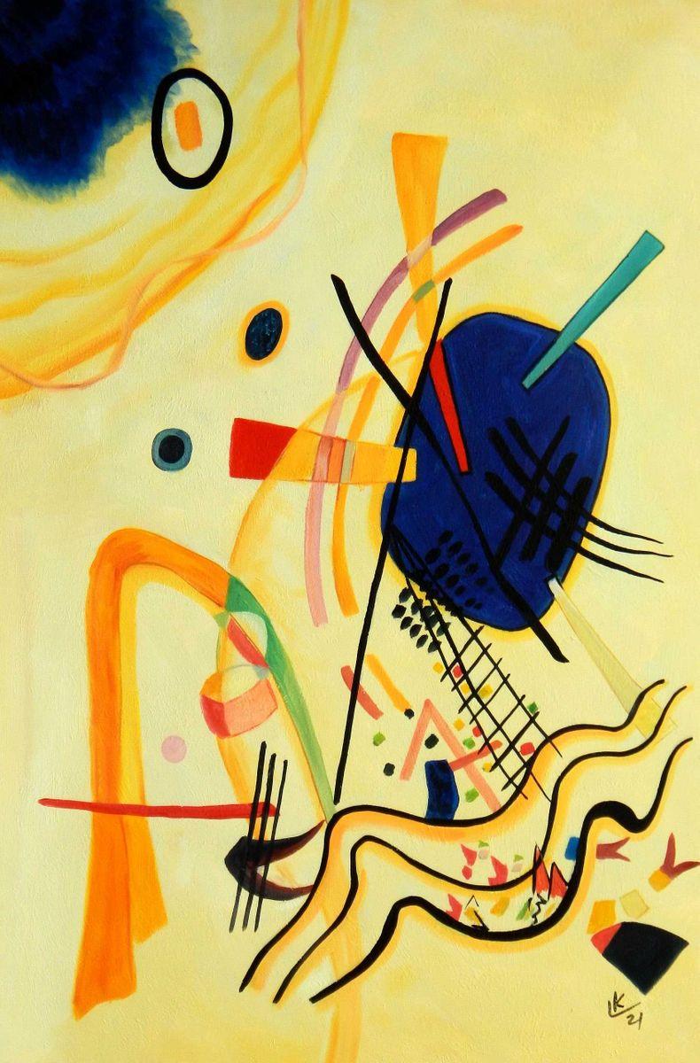 Wassily Kandinsky - Ohne Titel 1921 d94863 60x90cm Ölbild handgemalt