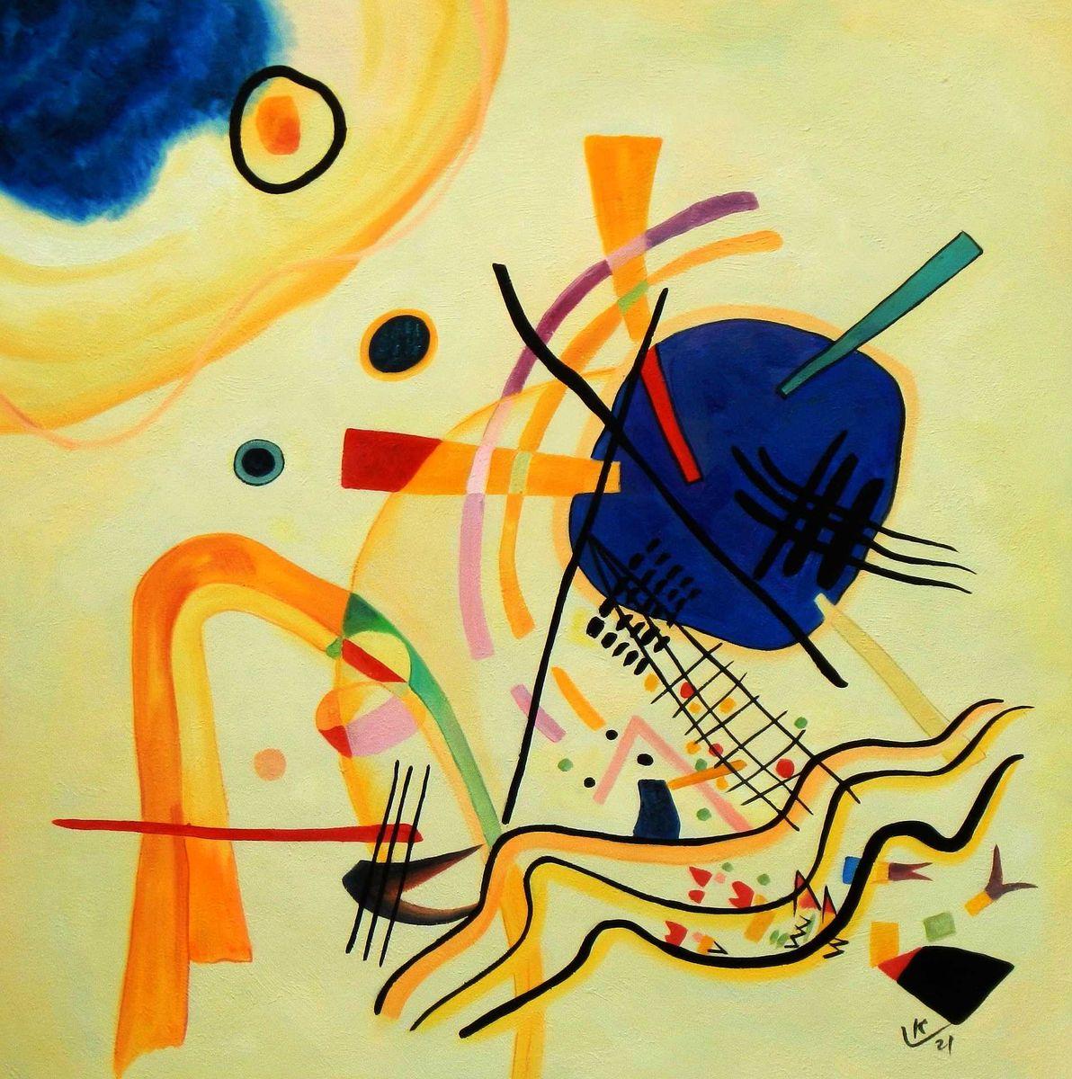 Wassily Kandinsky - Ohne Titel 1921 g94965 80x80cm Ölbild handgemalt