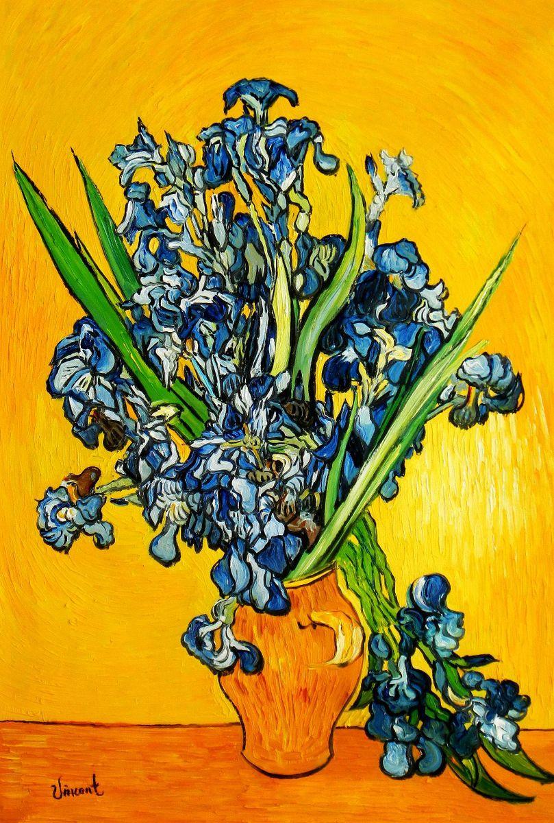 Vincent van Gogh - Vase mit Iris d95200 60x90cm exzellentes Ölbild
