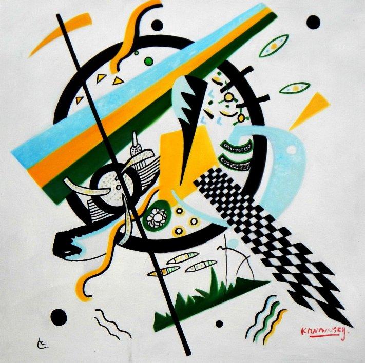 Wassily Kandinsky - Kleine Welten e95564 60x60cm exzellentes Ölgemälde