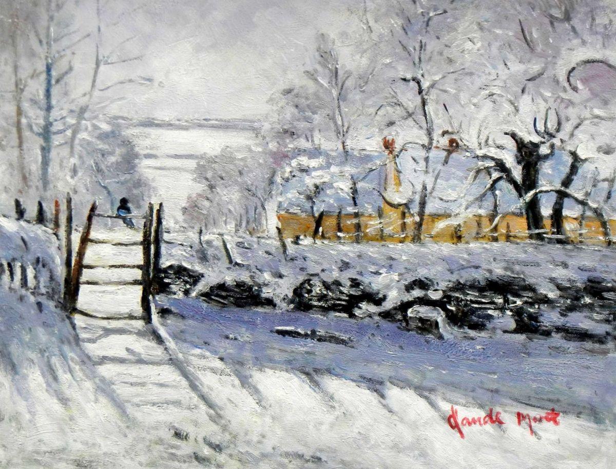 Claude Monet - Die Elster a95729 30x40cm handgemaltes Ölgemälde