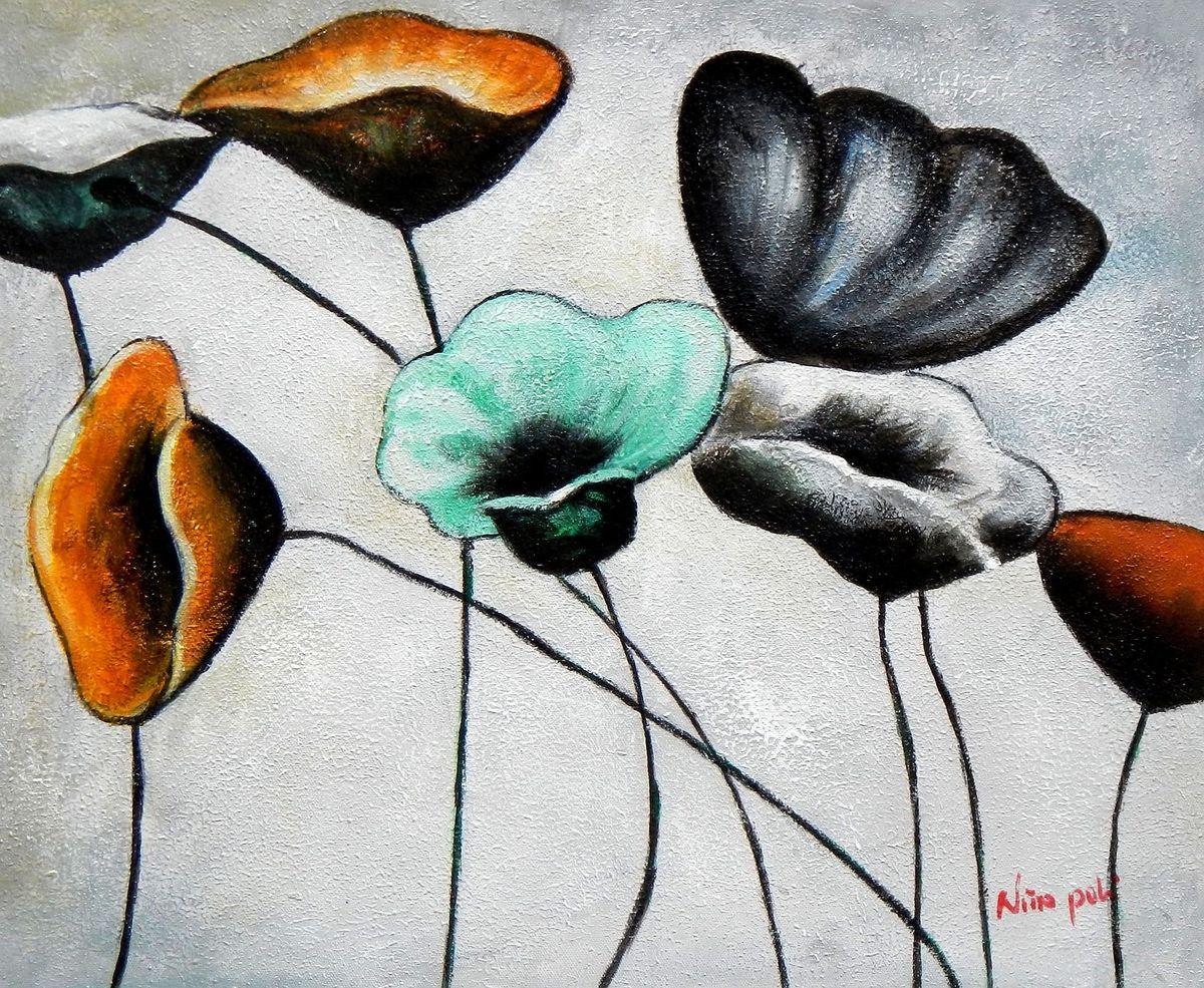 Abstrakt Modern Art - Der Blumentanz b95742 40x50cm Ölgemälde handgemalt