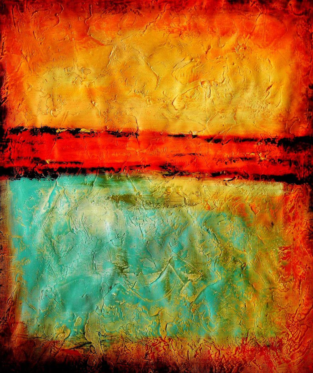 Abstract - Mirage in Babylon c95752 50x60cm abstraktes Ölbild