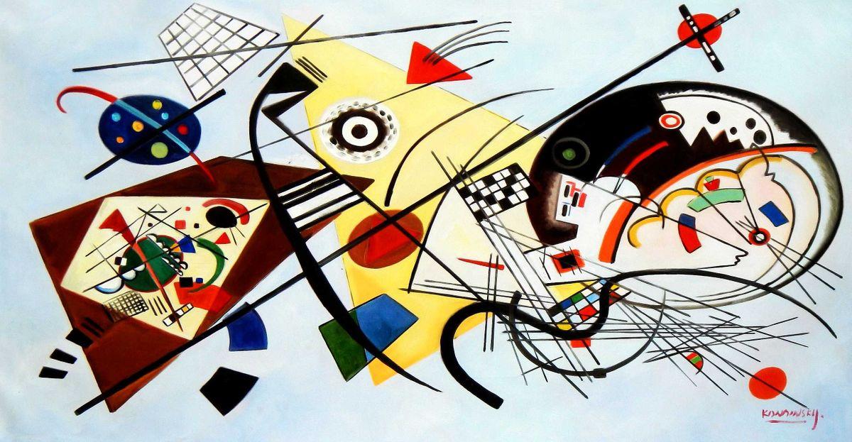 Wassily Kandinsky - Querlinie f95858 60x120cm exzellentes Ölgemälde